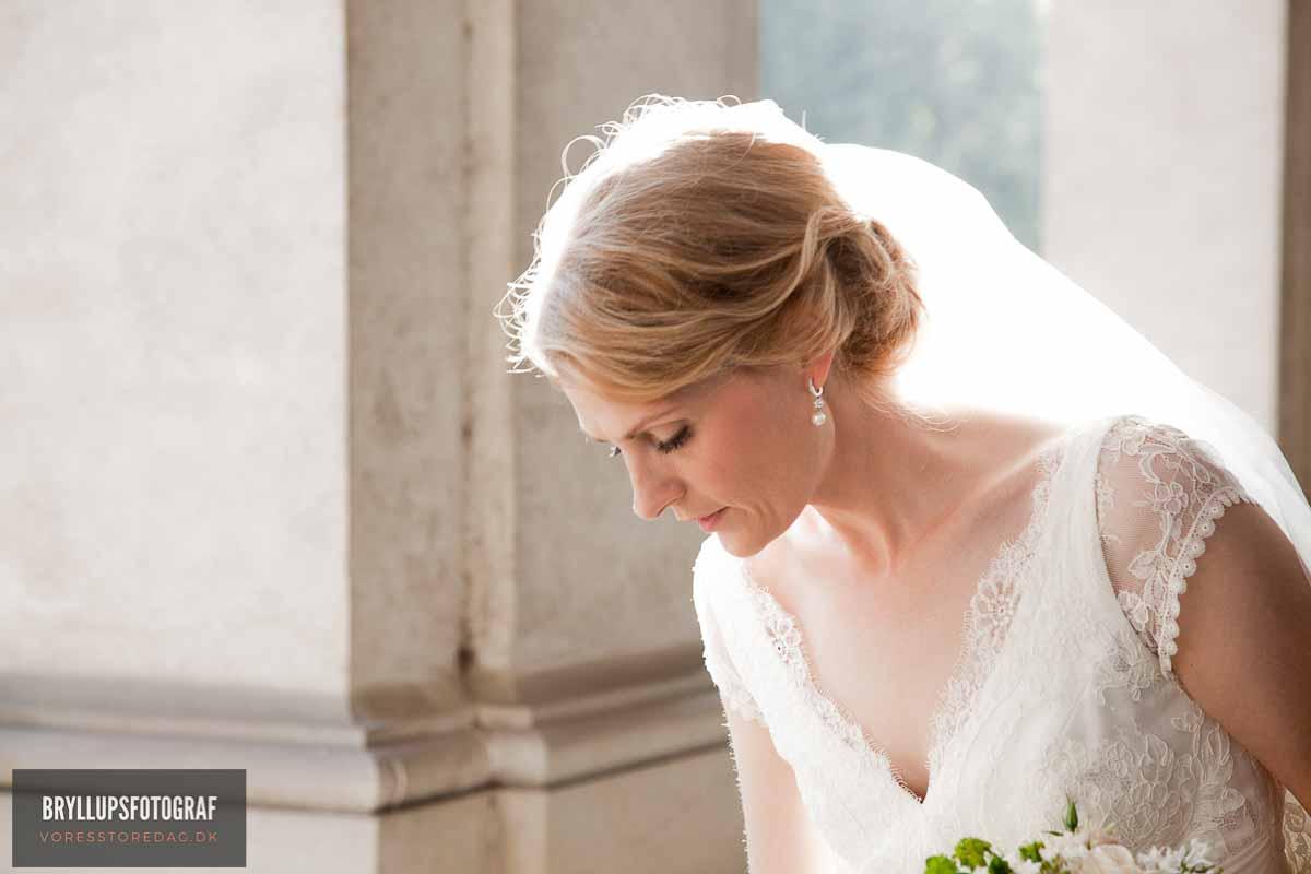 kort brudekjole