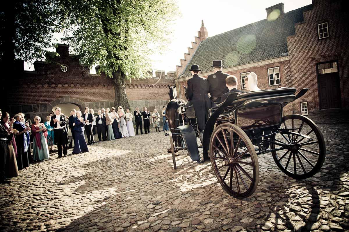 hestevogn ved bryllup